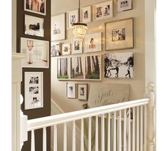 gallery wall - stairs