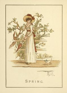 Spring - Kate Greenaway's Almanack for 1895
