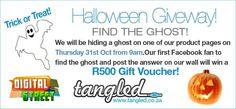 Halloween Giveaway on Thursday- Win a R500 Gift Voucher! http://digitalstreetsa.com/halloween-giveaway-thursday-win-r500-gift-voucher/