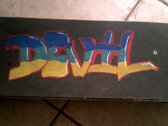 ||CLICK TO SEE THE VIDEO|| In this my new video where I show how I edited with a scratched my skateboard . If you like these videos go to my YouTube channel . . . #graffiti #art #artist #skateboard #skate #trick #devil #youtube #write #colour #colorized #geometric #wow #graffitialphabet #Yellow #green #blue