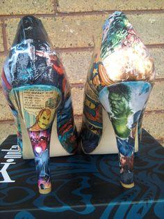 Avengers Comic book high heels   Best Shoes Ever!!!!!!!!!!!!!!!!!!!!!!!!