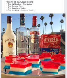 Forth of July Jello Shots