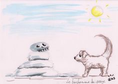follow4follow #jakeparker #inktober #inktober2017 #frenchinktober #frenchinktober2017 #inktoberfrance2017 #fairytalesinktober #draw #andersen #tales #talesofandersen #art #colors#color #ink #illustration #paper #artist #instaart #dailysketch #dog #pet #snowman
