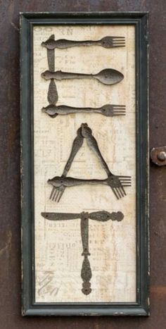 Don't toss out your old silverware. Here are 11 nifty ways to repurpose it Don't toss out your old silverware. Here are 11 nifty ways to repurpose it Home Crafts, Diy Crafts, Silverware Art, Spoon Art, Thrift Store Crafts, Thrift Stores, Junk Art, Metal Art, Woodworking Projects