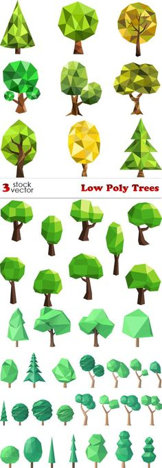 Vectors - Low Poly Trees