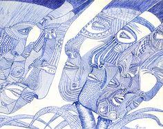 Eine Kugelschreiberzeichnung von George Jagiello EMO