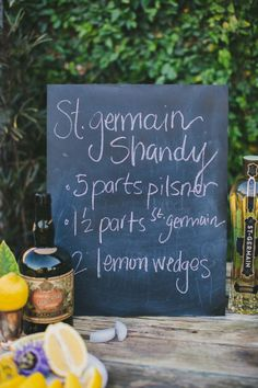 St. Germain Shandy. Yum. Photography by shannonmoorephotography.com, Styling and Floral Design by aprilflowersslo.com