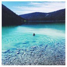 Serenity. Cliff Lake, Montana