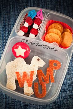One Hump Wump Bento #drseuss