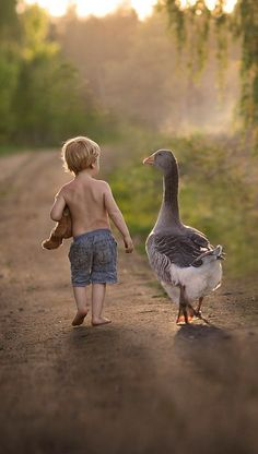 A goose and his boy:)