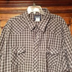 Men's Clothing Clothing, Shoes & Accessories Levis Plaid Pearl Snap Western Shirt Mens M Medium Regular Fit Red White Blue Shrink-Proof