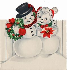 Snow couple.