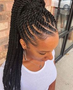 35 Cornrow Hairstyles A password will be e-mailed to you.Cornrows are an amazing… 35 Cornrow Hairstyles A password will be e-mailed to you.Cornrows are an amazing way of styling your hair in unique and creative ways. The styles you can create w Box Braids Hairstyles, Black Ponytail Hairstyles, Sporty Hairstyles, Braided Hairstyles For Black Women, Twist Hairstyles, Relaxed Hairstyles, Bangs Hairstyle, Female Hairstyles, Easy Hairstyle