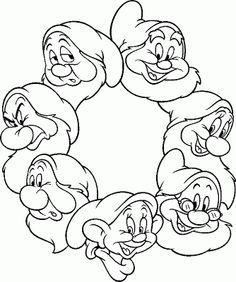 Seven Dwarfs Coloring Pages 3