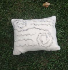 Felt pillowHandmade pillowdecorative felt pillow by LinaArtStudio