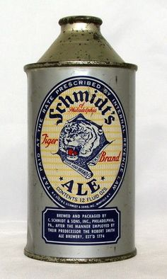 Schmidt's Tiger Brand Ale 12 oz Cone Top Beer Can Philadelphia PA   eBay