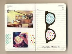 I need to do more things so I can cover my #Moleskine with pictures and such.