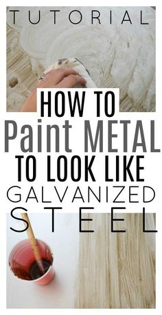 How to Paint Metal to Look like Galvanized Steel - TUTORIAL!