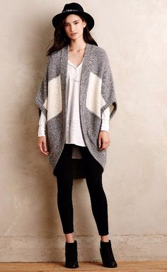 Colorblocked Dolman Cardi #anthropologie