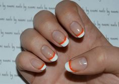 Just a quick little tutorial this evening.After cleaning, filing and shaping the nail and applying a base coat:1. use a striping brush to apply one coat of white polish to the very tip of the nail (make sure that you are using a very opaque polish and a fairly large striping brush that will cover most of the width you want to achieve in wipe stroke).2. go back in with a smaller striping brush to neaten up any little imperfections (this is when I make sure that it is tight to the sides of…