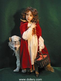 Little Red Riding Hood and Wolf.  30th Anniversary Doll Show 2012
