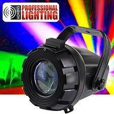 This is a great DJ light for Night Clubs, Bars, DJs, Wedding DJs, and Wedding receptions.The Adkins Professional Lighting Micro Moonflower is a plug and play Moonflower light effect with multi-colored beams that move back-and-forth to the sound of music.. With it's low power consumption, long life LED source, and it's ease of use, the Micro Burst is a great effect that brings pure lighting excitement to parties, karaoke events, small bars and clubs, and for home use.