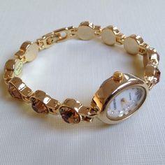 Fashion rhinestones crystals bracelets watch