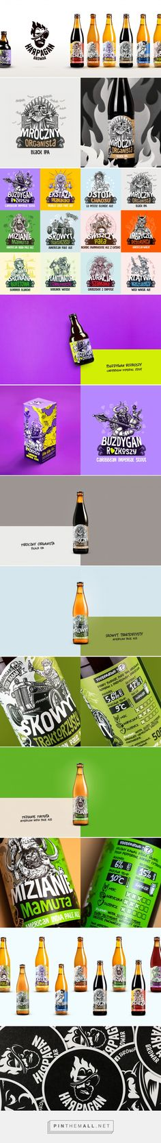 Harpagan Brewery packaging design by Fuse Collective - https://www.packagingoftheworld.com/2018/05/harpagan-brewery.html