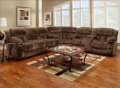 Exceptionnel Chocolate Brown Extra Comfy Plush Reclining Sofa Sectional With Built In  Storage U0026 Cupholders $2939.99