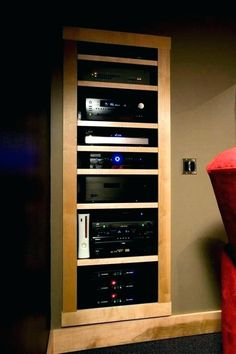 Image Result For Component Shelves And Cabinets Home Theater Bat Setup