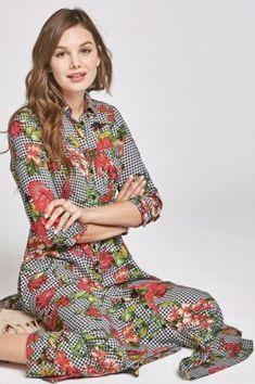37b074da31c7 Floral Gingham Shirt Dress #modestmaxidress #modesttrends #modesty Modest Maxi  Dress, Gingham Shirt