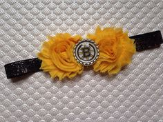 Bruins! Perfect headband for any little fan! The sparkly black and silver elastic is sure to please any little lady and the Bruins logo is front