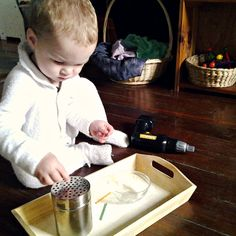 add parmesan shaker to my list of things to buy for Montessori tray activities Montessori Toddler, Toddler Play, Montessori Activities, Motor Activities, Toddler Activities, Preschool Ideas, Montessori Room, Montessori Materials, Educational Activities