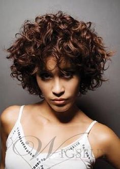 Fashion Tailored Luxury Short Curly 100% Real Human Hair About 10 Inches : wigsbuy.com