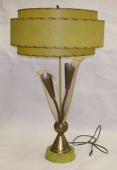 Table Lamp 3-Tiered Fiberglass Shade  ...Sold for $135