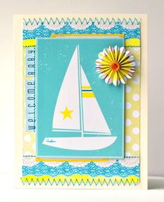 Welcome Baby - by Amy Heller using Shoreline and Amy Tangerine Sketchbook from American Crafts