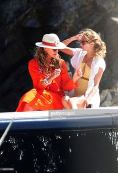 2015 Olivia Palermo (R) and her mother Lynn Hutchings are seen on July 28, 2015 in Ibiza, Spain.