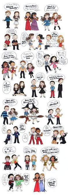 Glee's songs chibi.