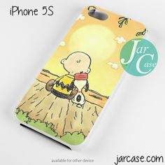 Snoopy in Sun Down Phone case for iPhone 4/4s/5/5c/5s/6/6 plus