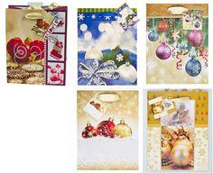 Geschenktaschen Gr. M mit wunderschönen Weihnachtsmotiven 5-fach sortiert 10 Stück
