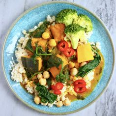 This Vegan Chickpea Pumpkin Curry is nutritious yet comforting, easy to make, and a great way to make use of seasonal produce! Also gluten-free.