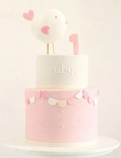 first birthday cake 1st Birthday Cakes, Baby Birthday, 1 Year Old Birthday Cake, Fondant Cakes, Cupcake Cakes, Rodjendanske Torte, 1 Year Old Cake, Gateaux Cake, Festa Party