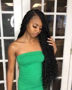 Box Braids Hairstyles, Braided Hairstyles For Black Women, Baddie Hairstyles, My Hairstyle, Twist Hairstyles, Protective Hairstyles, Hairstyles Videos, Protective Styles, Wedding Hairstyles