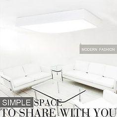 hvit innfelt lys ledet 32W 220v hvitt lys enkel moderne – NOK kr. 1.365