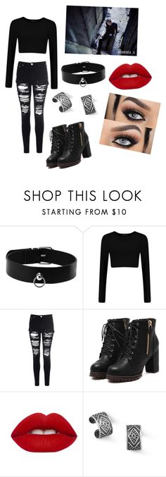 """Monsta X Wonho:Stuck"" by kaelynn564 on Polyvore featuring Glamorous, Lime Crime and BillyTheTree"