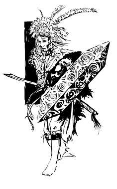 Dayak tribe warrior (Borneo) on corel painter (part of my final assignment) 2007 dayak warrior Iban Tattoo, Blue Roses Wallpaper, Dove Tattoo Design, Indonesian Art, Corel Painter, La Art, Web Banner Design, Borneo, Tribal Art