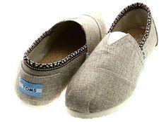 Toms Womens Classics Linen Shoes Grey