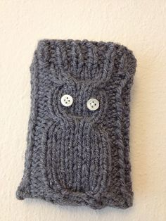 GREY  Knitted Owl Cell Phone Case Android Case iPhone by StyleCase, $15.00