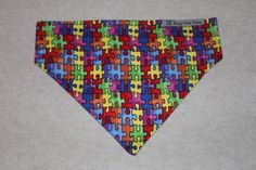 Autism Awareness Puzzle Patterned Dog Bandana in by RagtheDog, $5.00