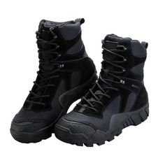 7913515e31530f FREE SOLDIER All-Terrain Boots are functional and comfortable men's  tactical boots in black.